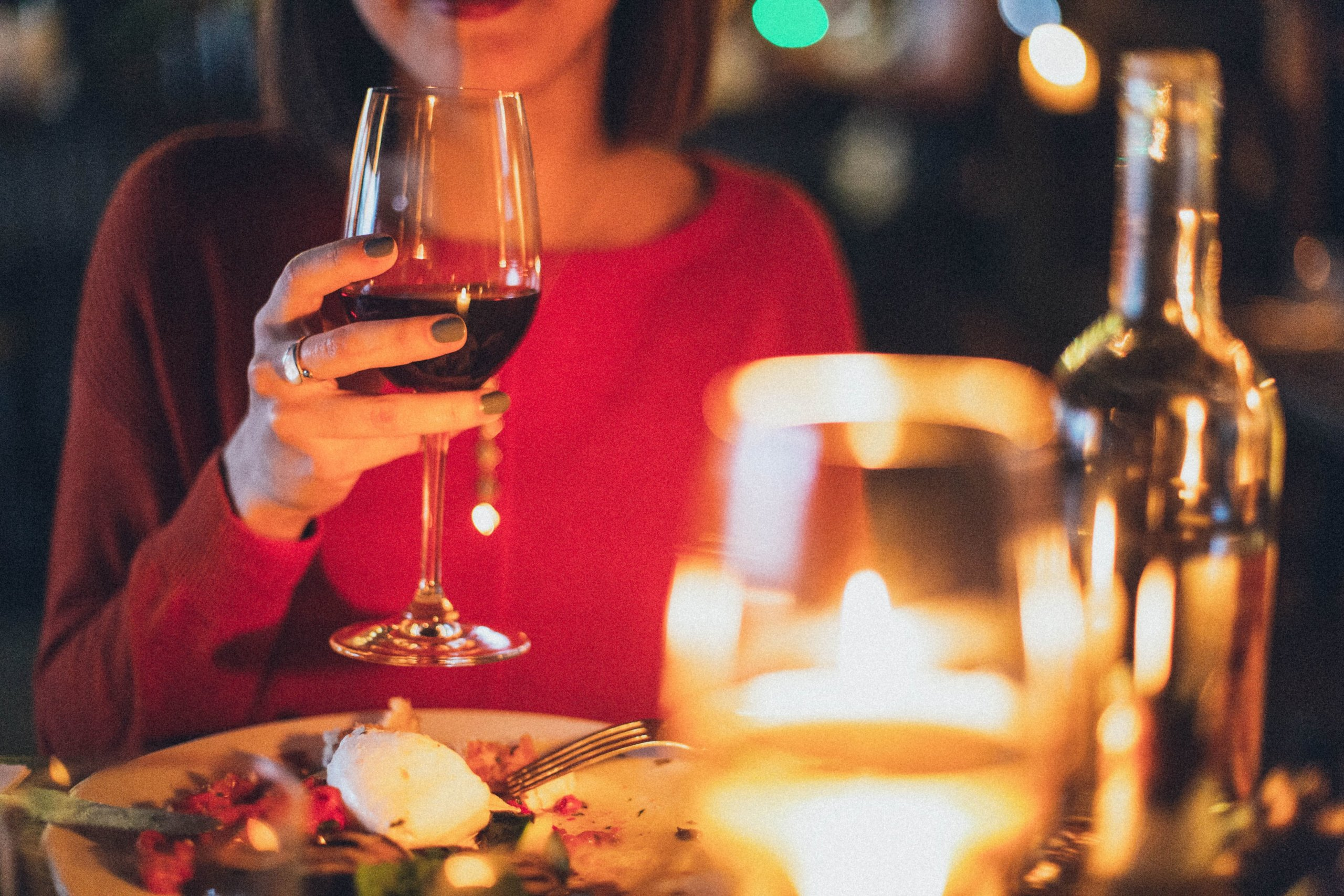 ワインで女子会